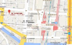 秋月電子通商の地図