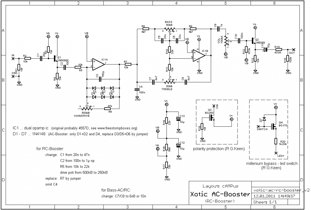 xotic ac booster schematic  xotic  get free image about
