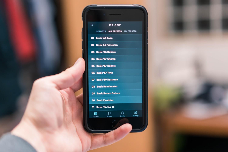 Fender Toneのアプリを開いた画像